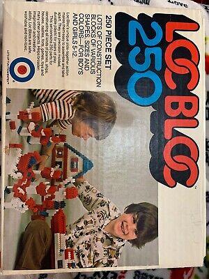Entex Loc Blocs 250pc + set original box No 1034 1975 Vintage