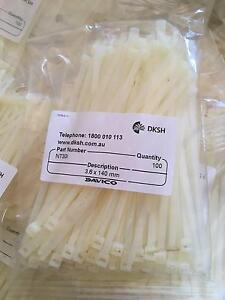 White cable ties (bundle of 25 packs of 100) Spotswood Hobsons Bay Area Preview