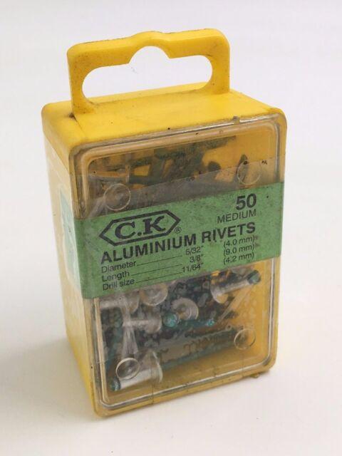 CK TOOLS 4MM X 9MM MEDIUM ALUMINIUM RIVETS T3819A 512