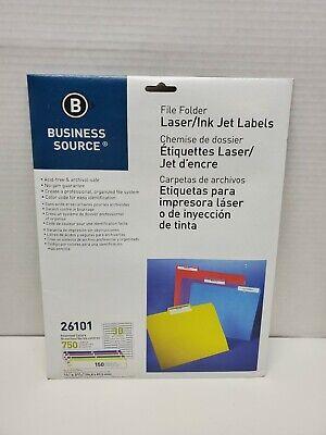 File Folder Labels Laser 23x3-716 750pack Assorted Colors 26101