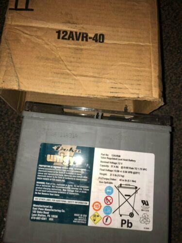 12AVR-40 12V 40Ah Unigy I Series UPS Battery
