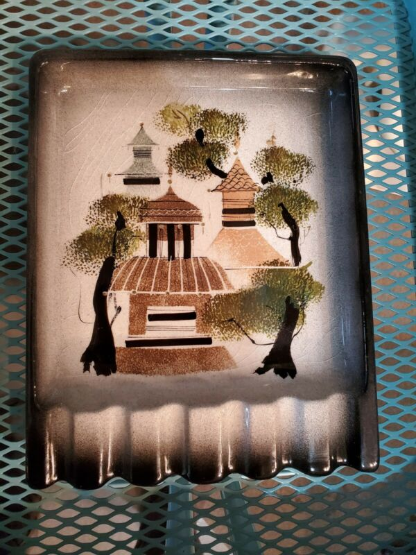 VTG MCM Mid Century Sasha Brastoff Ashtray California Pottery Signed 07 Pagodas