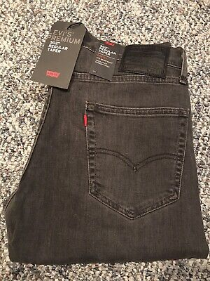 NWT Men's Levi Premium 502 Regular Taper Stretch Jeans Headed East Grey 33