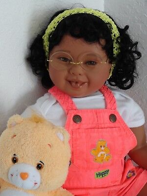 "Reborn 22"" Ethnic/AA toddler girl doll Kendra -Down Syndrome Tribute, used for sale  New Port Richey"