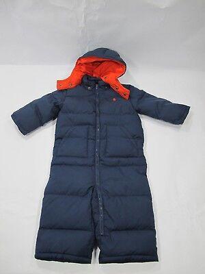 b34a2a082 Ralph Lauren Boy's Navy Snow Suit Bunting 18M Down Filled