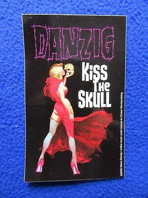 "~~ DANZIG ""KISS THE SKULL"" ALBUM PROMO  STICKER ~ 2005 ~ LAST ONE! ~~"