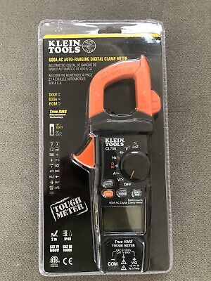 Klein Tools Cl700 Digital Clamp Meter Ac Auto-ranging 600a