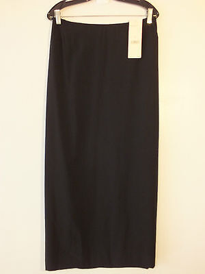 NWT Emanuel Ungaro Woman Black Dress Occasion Long Skirt Size 20/54 MSRP $225