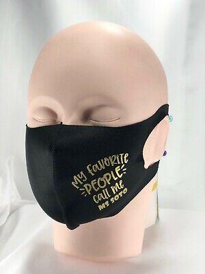 5pk Face Mask Blank Vinyl Transfer Paper Ready Polyester 1 Layer Reusable.