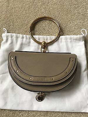 Chloe SS17 Spring 2017 Nile Minaudiere Bracelet Leather Bag Motty Grey Runway