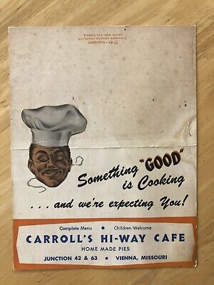 Table Advertising Card For Carrol's Hi-Way Cafe' Vienna MO Vintage