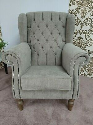 Chesterfield New Queen Anne .High - backed chair. Free delivery. RARE