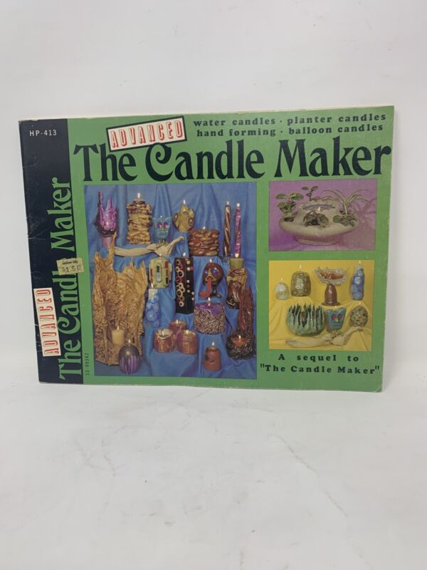 Vintage The Advanced Candle Maker Instruction Craft Booklet  Rare Crafts Book