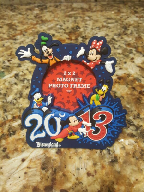 Disneyland Resort 2013 Mickey & Friends Magnet Photo Frame - Hold 2 x 2 Photo