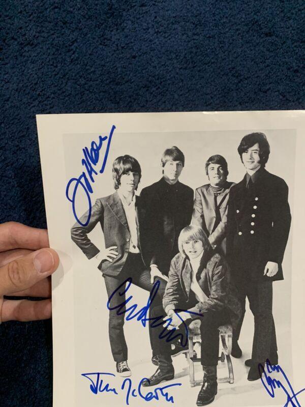 Yardbirds Signed Photo Jimmy Page Jeff Beck Chris Dreja McCarty Zeppelin Beckett