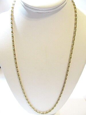 BRIGHT GOLD TONE PAPERCLIP CHAIN VINTAGE COSTUME OLD STOCK UNUSED NECKLACE Gold Tone Costume