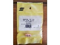 Qty.1 Replaces 23612759 ESAB 17983 Tip Adaptor 1//4 for Slide Nozzle