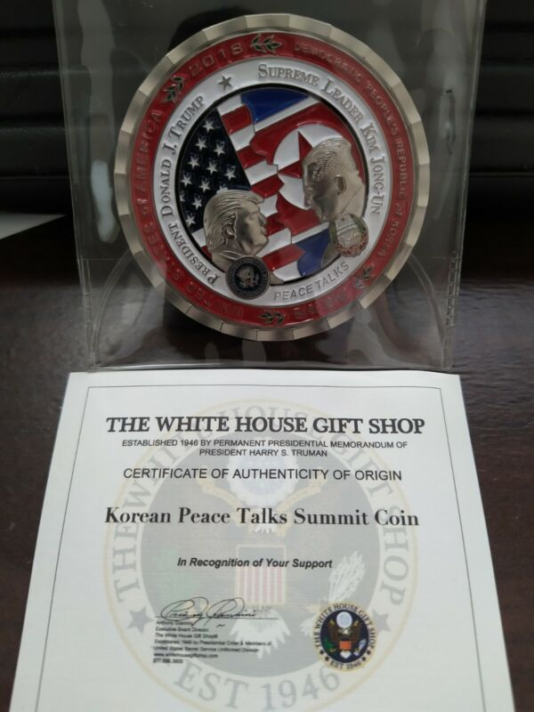NEW President Trump Kim Jong Un First Historic Singapore Summit Coin, Each w/COA