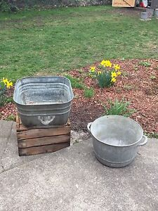 Two galvanized wash tubs $40