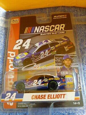 Auto World AW R4 NASCAR Chase Elliott Chevy SS NAPA Blue Electric Slot Car