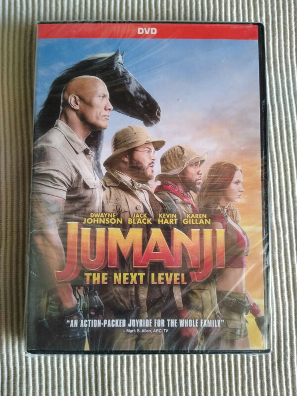 Jumanji: The Next Level (DVD, 2019) New & Sealed Brand New Shipping Free