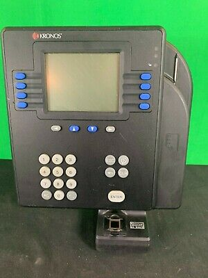 Kronos 4500 Time Clock W Touch Id Biometric Scanner 8602800-001