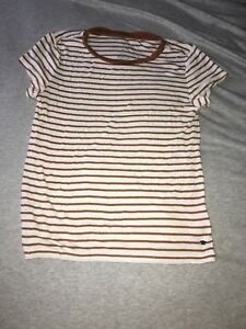 Brown and white XS American eagle shirt
