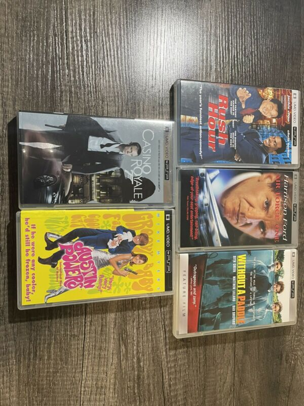 Rush Hour Austin Powers  Casino Royale Air Force One PSP UMD Video Movie lot