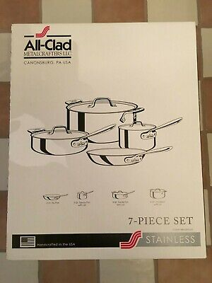 ALL-CLAD 7 PIECE STAINLESS STEEL COOK SET 8400000263 BRAND NEW BEST