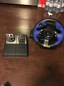 Playstation steering wheel.