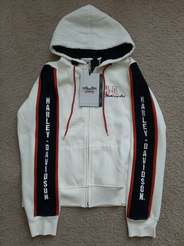 NEW HARLEY DAVIDSON MOTORCYCLES HOODED JACKET HOODIE YOUTH XL EMBROIDERED LOGO