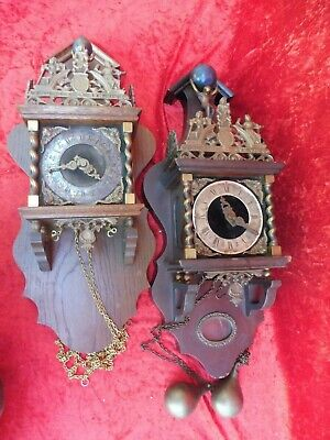 2 Beautiful, old Pendulum Clocks, Wall Clocks, with Figures, Hermle And Fhs