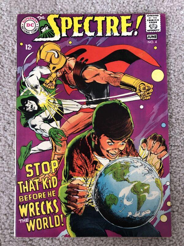 SPECTRE #4 (1968) SILVER AGE NEAL ADAMS C/A!!  NICE COPY!!!