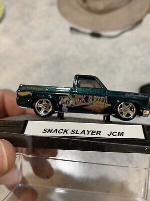 Hot Wheels 83 Chevy Silverado Custom Paint & Decals Snack Slayer Real Riders