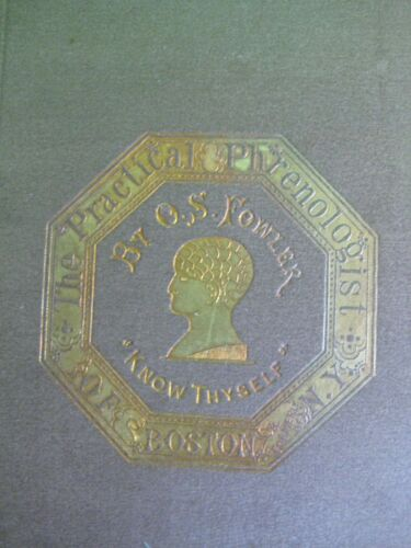ANTIQUE PHRENOLOGY_MYSTIC OCCULT SCIENCE_FILLED IN BY AUTHOR_Lincoln Washington