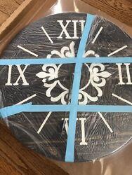 Large Custom Handmade New Wooden Antique Rustic Farmhouse 24 Wall Clock Walnut