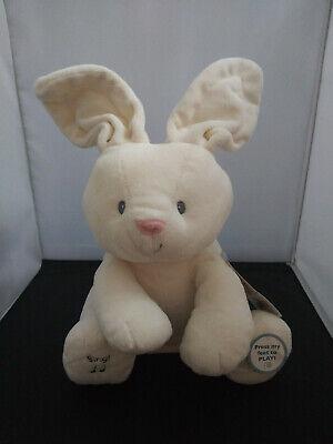 "Gund Baby Flora The Bunny Peek-a-Boo Animated Talking &Singing Plush Toy - 12"""