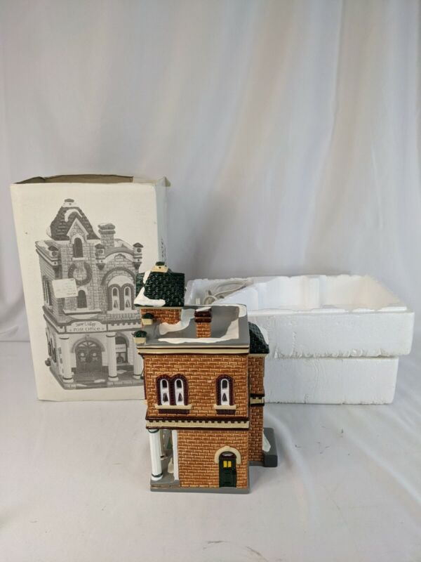 Department 56 Snow Village VILLAGE POST OFFICE in Box & Insert TESTED