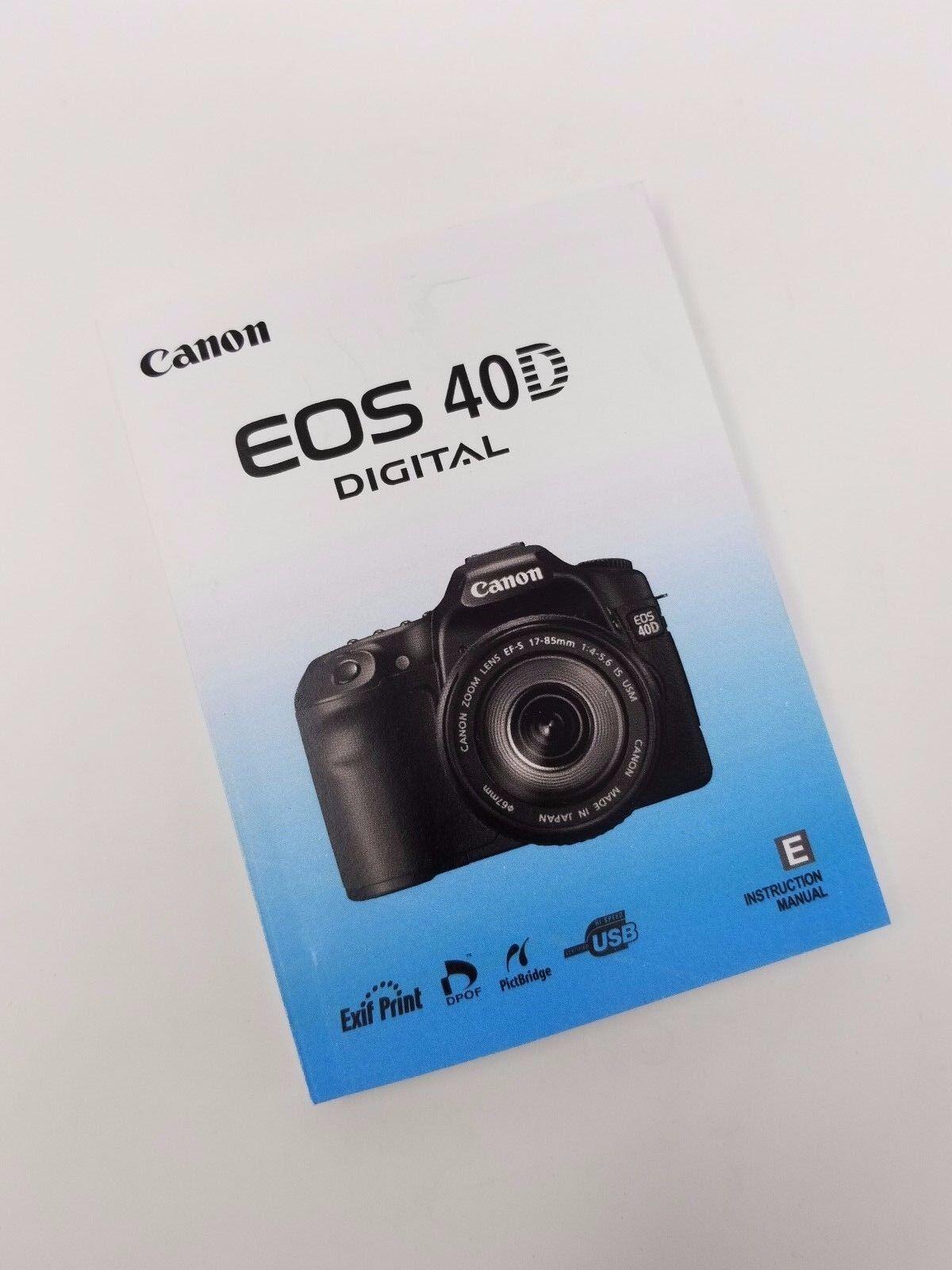 canon eos 40d genuine instruction owners manual book original new rh bayshop com Canon EOS 40D SLR Digital Canon EOS 40D Photography