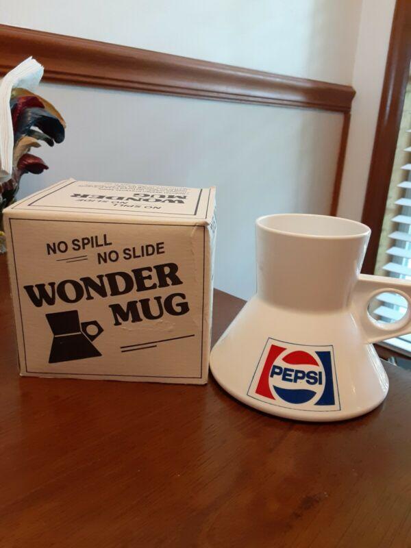 Vintage Pepsi Wonder Mug No Spill Slide Pepsi Travel Coffee Cup New in Box