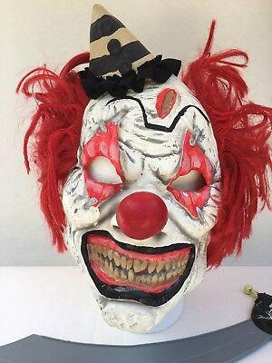 Scary Clown Teeth (Scary Clown Insane Halloween Costume Mask Adult Creepy Sharp Teeth Red)