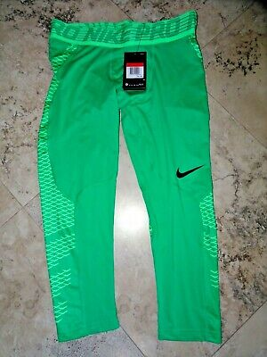 NEW NIKE PRO HYPERCOOL ATHLETIC TIGHTS MENS GREEN S L - Mens Green Tights