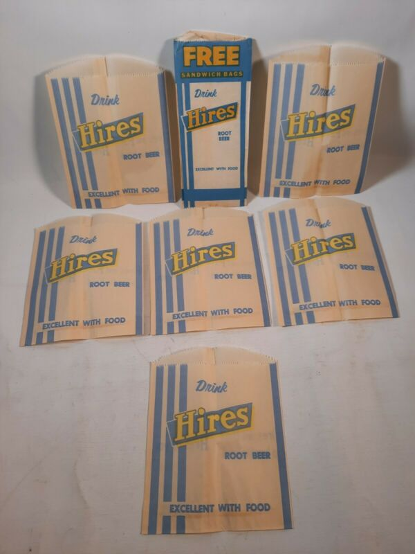 Lot Vintage Hires Root Beer Soda Pop UNUSED SANDWICH Bags
