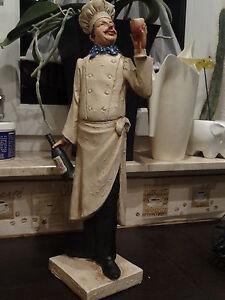 Chefkoch Polystein Figur zum Dekorieren H. 49 x 19cm neu kochen koch deko küche