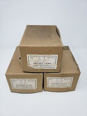 Vintage Store Fixtures Double Clips Armstrongs Metal 3 Boxes