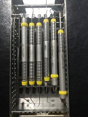 Hu-friedy Yellow Cassette With Dental Hygiene Instruments