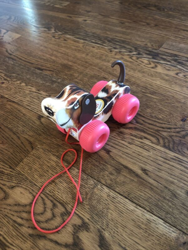 Fisher Price Little Snoopy Wooden Pull toy