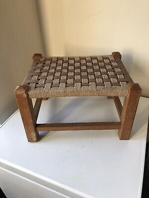 Old Vintage Foot Stool Good Used Condition