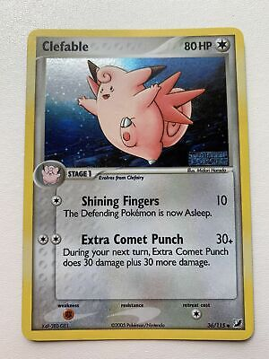 Clefable 36/115 Stamped Holo EX Unseen Forces NM/M Mint Pokemon Card