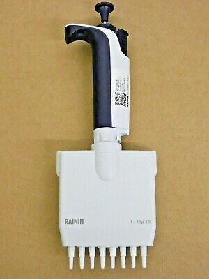 Rainin Pipet-lite Multichannel Pipette L8-10xls 8 Channel 1-10 Ul